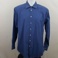 Nautica Blue Striped Men's L/S Dress Button Shirt Size 16 1/2 34/35