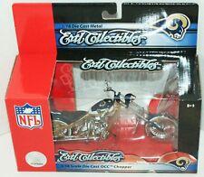 RAMS FOOTBALL ST LOUIS OR LA TOY DIECAST MOTORCYCLE ERTL NFL 1:18 OCC CHOPPER