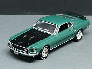 1969 '69 FORD MUSTANG MACH I 1/64 SCALE ADULT COLLECTIBLE LIMITED EDITION GREEN
