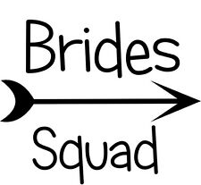 Brides Squad Hen Party Iron on Transfer A5