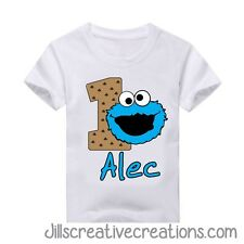 Cookie Monster T Shirt, Cookie Monster, Birthday, Personalized shirts, Elmo