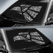 Auto Shade Hecho en Mexico Eagle Design with Aztec Calendar Parasol para Carros