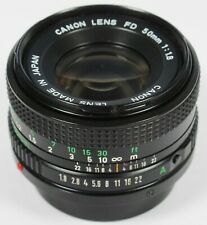 Canon 50mm f/1.8 FD Manual Focus Prime Lens fits A-1 AE-1 T90 T70 F-1 etc
