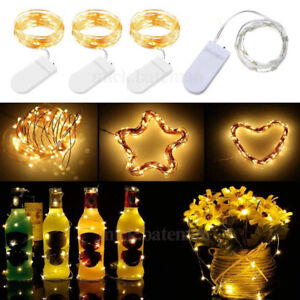 2m 20LED Twinkle Copper Wire Starry Bottle Light Craft for Wedding Jar Christmas