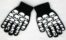Glow In the Dark Skull Prints Magic Stretchy Cotton Gloves One Size Fits Most #3