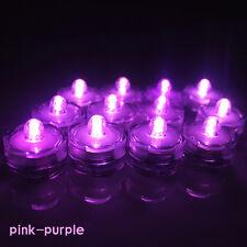 12/24/36 pcs LED Submersible Waterproof Wed Xmas Decor Vase Tea Light Candles