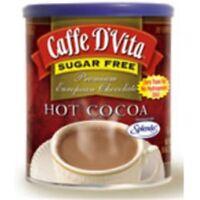 Caffe DVita F-DV-1C-06-SFCO-21 Premium Sugar Free Hot Cocoa 6 10 oz canisters