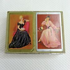 1940s 2 Double Deck Pin Up Girls Congress Playing Cards Complete