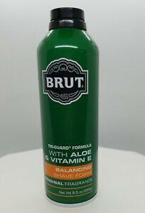 BRUT Balancing Shave Foam With Aloe & Vitamin E Tri-Guard Formula 9.5 Oz single