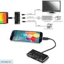 HUB a HDMI Adaptador Micro USB OTG SD TF Lector Tarjetas Escritor Para Nota 3 S4