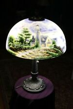 """Thomas Kinkade Lamp """" A Light In The Storm� 23"""" Two light Lamp"""
