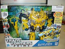 Transformers Prime Cyberverse Command Your World Bumblebee Battle Suit  New