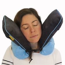 Foam Neck Rest Support Pillow Blue Cushion Home Car Plane Travel - memory foam