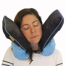 Foam Neck Rest Support Pillow Blue Cushion Home Car Plane Travel - memory foam