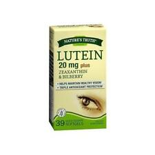 2 Pack Nature's Truth Lutein 20 mg + Zeaxanthin & Bilberry 39 Softgels Each