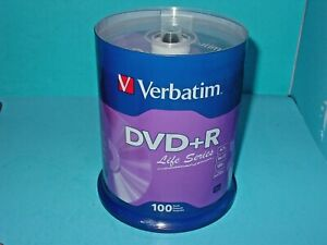 VERBATIM 16X DVD+R 4.7GB 100 pack