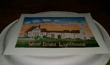 Richard Levy of Wood Island Lighthouse Blank Note Greeting Card with envelope