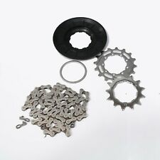 """Brompton Bicycles 2020 Sprocket Set for 2-speed 13/16T & 3/32"""" 102-Link Chain QR"""