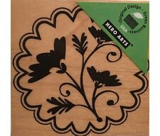 Hero Arts Red Rubber Wood Mounted Stamp Flower Charm F5364