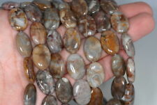 18X13MM MEXICAN LACE AGATE GEMSTONE OVAL LOOSE BEADS 15.5
