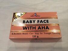 K-BROTHERS USA Super Baby Face Original Formula AHA Whitening Soap 110g./3.9oz.