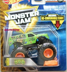 HOT WHEELS 2018 MONSTER JAM RE-CRUSHABLE CAR JESTER EPIC ADDITIONS