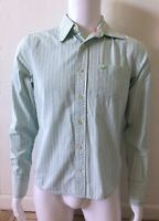 HOLLISTER Mens Size Medium Cotton Striped Button Up Collared Long Sleeve Shirt