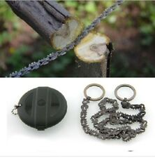 Compact EDC manganese steel hand Chain saw Hiking Prepper Bushcraft Survival