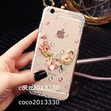 Luxury Bling Crystal Diamond Rhinestone Hard Clear Case Cover For Cell Phones C