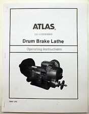 Atlas EB-1410 / 676003 Drum Brake Lathe Operating Manual