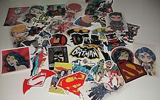 Batman Superman Flash Wonder Woman DC Comics Sticker Bomb Lots Of 10 Mixed