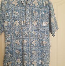 Vintage Reyn Spooner Aloha Friday Shirt L Reverse Print Lahaina Sailor