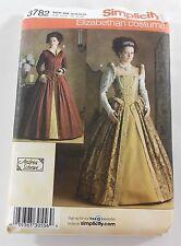 Simplicity 3782 Renaissance Tudor Elizabethan Costume 14 16 18 20 Sewing Pattern