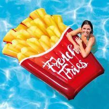 INTEX XXL Pommes Frites 175x132cm Badeinsel Luftmatratze Schwimmliege Pool