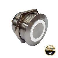 Klingeltaster 19 mm LED-Bel. weiß Klingelplatte Haustürklingel Klingelknopf