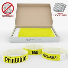 "3/4"" Neon Yellow GrandstandStore.com Tyvek Event Wristbands for easy vip identif"
