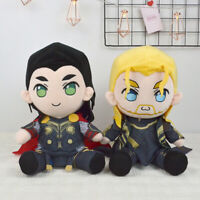 US 30cm The Avengers Thor Loki Plush Doll Soft Stuffed Toy Kid Gift Cosplay Prop