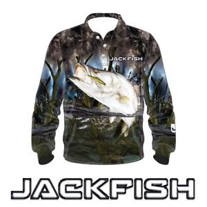 JACKFISH Barramundi Long Sleeve Fishing Shirt - YOUTH KIDS UV SUN PROTECTION
