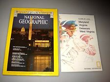 National Geographic Magazine October 1976 With Map of Mid Atlantic States, Opals
