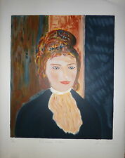 STEIN David Lithographie signée numérotée à la manière de Renoir expressionnisme