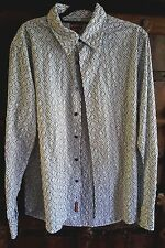 Tommy Hilfiger Denim cotton blend white navy embroidery men's shirt button up XL