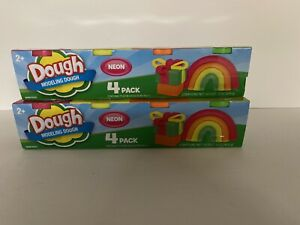 NEW 2 DOUGH Modeling Dough 2 - 4 Packs Both Are NEON Play