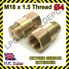 Lambda O2 Oxygen Sensor Extender Spacer for De-cat & Hydrogen M18 x D4 BRASS