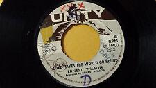 "Ernest Wilson -Love Makes The World go Round /Reggae 45"" on Unity Label Rare U.K"