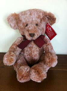 RUSS Berrie Teddy Bear Two-Toned Named Garvey Medium NWT Stuffed Plush Bear