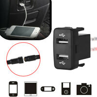NEW Auto Cellphone Dual USB Port Socket Charger Apdapter Audio Input for Toyota