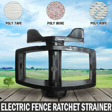 NEW Inline Ratchet Strainer Tensioner Electric Fence Poly Hot Wire Energiser