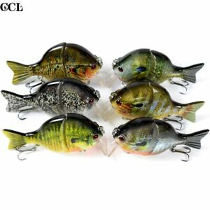 "3.5"" 32g Bluegill Swimbait Fishing Lure Lifelike Bass Pike Muskie Fish Crankbait"