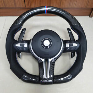 New Carbon Fiber Perforated Leather Steering Wheel For BMW M1 M2 M3 M4 F80 F82