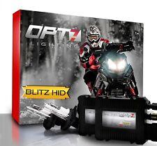 OPT7 Snowmobile HID Kit H4 9003 Hi-Lo 5000K 5K White Xenon Headlight Light Bulbs